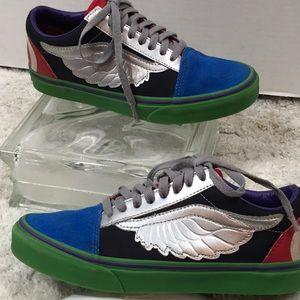 Vans Marvel Avengers silver wing sneakers